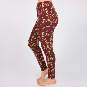 "New Mix printed Christmas peach skin leggings are seamless, chic, and a must-have for every wardrobe. These lightweight, full-length leggings have a 1"" waistband. They are versatile, perfect for layering, and available in many unique prints. 92% Polyester 8% Spandex. One size fits most, fits US women's 0-14"