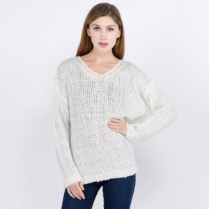 Stay warm in the winter time with this gorgeous loose fitting sweater. 55% acrylic and 45% cotton. One size fits most.