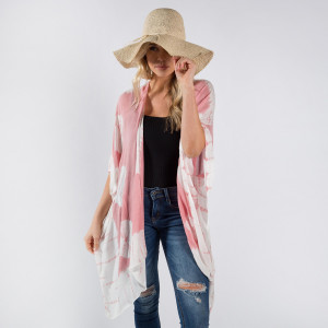 Tye die kimono or beach cover up. 100%viscose. One size.