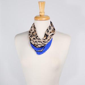 "Light weight cheetah print scarf. Denimson: 27 1/2"" x 27 1/2""  100% POLYESTER"