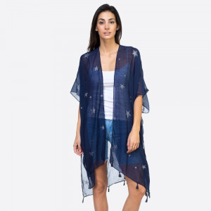 """Glitter star kimono. 35""""X35"""". 100% VISCOSE"""
