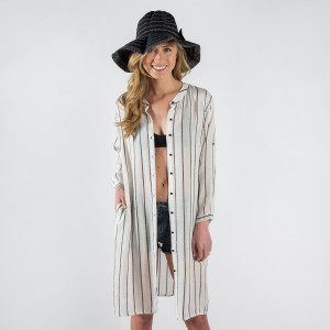 Striped shirt cardigan with buttons 100% cotton.