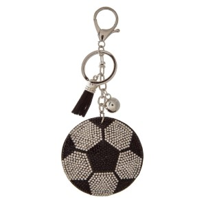 """Keychain with sports ball design. Approximately 4.5"""" in length."""