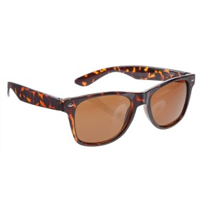 Tortoise wayfarer style sunglasses with UV 400 protection lenses.