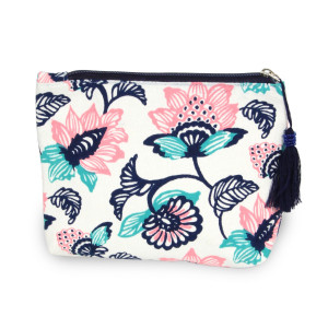 Flower pouch/ cosmetic bag. 8w X 6L.