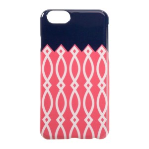 This pink, white, and navy blue case is a must have for your iPhone 6/6s! Easy to take on and off, allows full access to button, ports, and controls. Perfect for adding your own vinyl lettering!