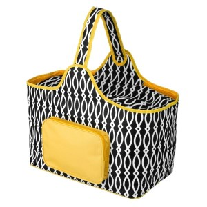"Black and yellow cooler features: 1.75 cubic feet of storage space, ability to hold 48 twelve ounce cans, full insulation, two sided zipper and a front pocket that's perfect for monogramming. Cooler bag measures 20"" x 15"" x 10"" and has a 17"" handle."