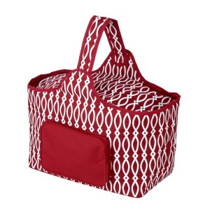"Crimson and white cooler features: 1.75 cubic feet of storage space, ability to hold 48 twelve ounce cans, full insulation, two sided zipper and a front pocket that's perfect for monogramming. Cooler bag measures 20"" x 15"" x 10"" and has a 17"" handle."