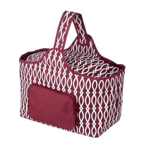"Maroon and white cooler features: 1.75 cubic feet of storage space, ability to hold 48 twelve ounce cans, full insulation, two sided zipper and a front pocket that's perfect for monogramming. Cooler bag measures 20"" x 15"" x 10"" and has a 17"" handle."