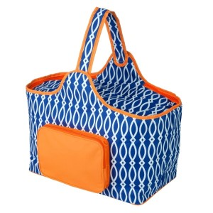 "Royal blue and orange cooler features: 1.75 cubic feet of storage space, ability to hold 48 twelve ounce cans, full insulation, two sided zipper and a front pocket that's perfect for monogramming. Cooler bag measures 20"" x 15"" x 10"" and has a 17"" handle."