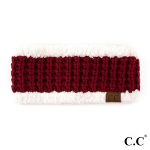 HW-302: Knit C.C headband with fuzzy lining. 100% acrylic.
