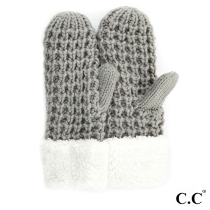 C.C CG-36 Chunky kit sherpa lined mitten  - 100% Acrylic - One size fits most