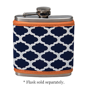 Display your school pride with your very own neoprene flask cover in your school colors! Velcro coozy is easily removable. Neoprene is insulated and machine washable. This item can be monogrammed, embroidered or screen printed. FLASK SOLD SEPARATELY!!