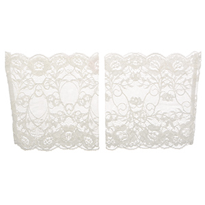 "6"" tall white tone lightweight lace boot toppers. Perfect for year-round wear."
