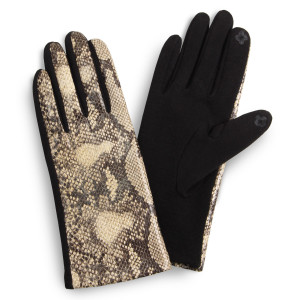 Python print touch screen gloves.  - One size fits most  - 100% Polyester