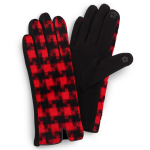 Houndstooth touch screen gloves.  - One size fits most - 100% Polyester