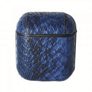 Faux leather snakeskin hard cover AirPod case protector featuring:  - 360° Full Protection - USB Port - Compatible with AirPods & AirPods 2 - High quality faux leather - Detachable clip - Hard plastic inside lining - Magnetic secure closure  AirPod case must be inserted into protector for magnetic closure to snap securely.  AirPods not included.