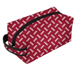 Neoprene Zipper Bag-Alpha Omicron Pi. This zipper bag includes a convenient carrying handle and may be used for cosmetics, brushes or any personal items. Machine washable.