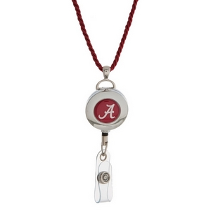 "Officially licensed University of Alabama lanyard and ID holder with a break-away cord. Approximately 32"" in length."