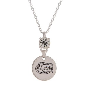 """Silver tone necklace with an officially licensed Florida State Seminoles pendant. Approximately 18""""in length."""