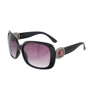 Officially licensed black sunglasses with the University of Alabama logo on the sides. UV 400 protection.